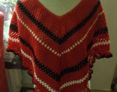 Crochet poncho Poncho crochet by HippeDraadjes on Etsy