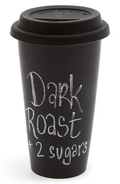Free shipping and returns on DCI Chalkboard Travel Tumbler (Juniors) at Nordstrom.com. Make your mark on a double-walled travel tumbler featuring a chalkboard surface that can be personalized with a new sentiment every time you caffeinate.