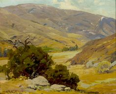 Hanson Puthuff (1875-1972). Aliso Canyon, 1911. Oil on canvas, 16.25 x 20.25 in.