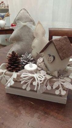 @Alberi, casetta in feltro,pannolenci,Natale