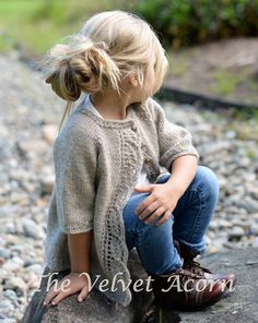 Knitting pattern for Cove Cardigan for children - This children's sweater by Velvet Acorn features a leaf lace front. Sizes year pattern for Cove Cardigan for children - This children's sweater by Velvet Acorn features a leaf lace front. Velvet Acorn, Knitting Patterns Free, Knit Patterns, Free Knitting, Sweater Patterns, Baby Cardigan Knitting Pattern Free, Free Pattern, Sock Knitting, Blanket Patterns