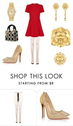 """Untitled #857"" by a-h-a ❤ liked on Polyvore featuring Louis Vuitton, Chanel, Christian Louboutin and Rolex"