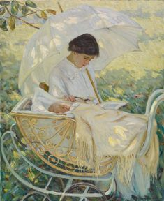 Helen McNicoll, In the Shadow of the Tree, c. 1914. Oil on canvas, 100.3 x 81.7 cm. Musée national des beaux-arts du Québec, Quebec City. #ArtCanInstitute #CanadianArt