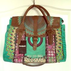 "Desigual Avatar Galactic Satchel Bag, NWT Brand-new and unused; has been sitting in my closet for years! 17"" x 14"" x 6"" (And please, ladies—NO LOWBALL OFFERS!!!) Desigual Bags Satchels"