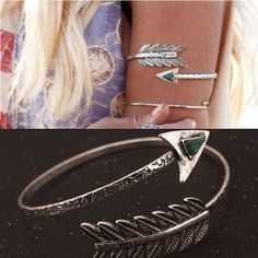 Bohemian Ethnic Upper Arm Bracelet Vintage Arrow Open Bangle Armlet Arm Cuff BL096