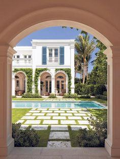 mediterranean homes exterior Mediterranean Decor, Mediterranean Architecture, Mid Century House, Spanish Style, Beach House Decor, Beach Houses, Pool Houses, Home Fashion, My Dream Home