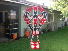 Red white and blue Hot Air Balloon by downrightcrafty on Etsy