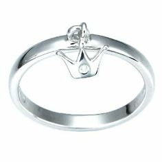 Children's Sterling Silver Diamond Accent Crown Dangle Ring, Size 4 Amazon Curated Collection. $20.00. Sterling silver is polished to a shine. A crown lightly dangles from this fun ring Perfect for your little girl. Made in China. Save 20% Off!