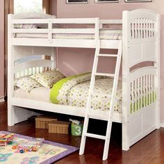 Standard in functionality yet exciting in person, this Mission style bunk bed offers comfort and convenience. The compact design ensures your little ones have plenty of floor space while still able to rest peacefully on each twin bed.