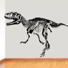 Wall Decal Vinyl Sticker Decals Art Decor Design Dinosaur Skeleton Teeth Bones Animals Kids Children Nursery Bedroom Fashion (r616)