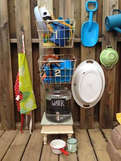 Summer Play Idea: Easy Backyard Water Station   CBC Parents