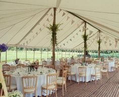 Traditional Canvas Pole Marquee Pictures | Burgoynes Marquees