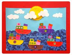 #preschool #okulöncesi #kindergarten #sanatetkinliği #kidscraft #grupetkinliği #gemi