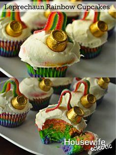 Leprechaun Rainbow Cupcakes
