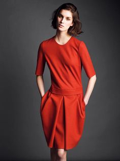 beautiful strength of colour on a simple, elegant frock.