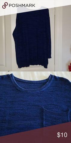 69f4eb44f1fae Blue  amp  black tunic sweater Blue  amp  black heathered sweater