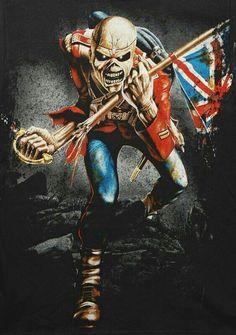 🤘 💀 🤘 Rey 22 California 🇺🇸 ☢ Thrash Metal - Death Metal - Heavy Metal ☢ Cars - Trucks - Motorcycles ⛧Satan Laughs As You Eternally Rot⛧ Heavy Metal Rock, Heavy Metal Music, Heavy Metal Bands, Hard Rock, Metallica, Iron Maiden Mascot, Iron Maiden The Trooper, Rock And Roll, Eddie The Head
