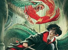 Harry Potter and the Chamber of Secrets  -  The UK Harry Potter cover illustrations by Jonny Duddle