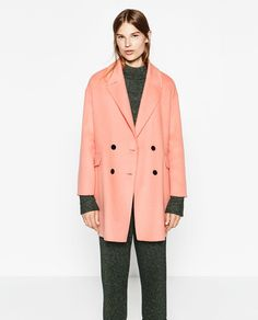 DOUBLE-BREASTED COAT-Coats-OUTERWEAR-WOMAN | ZARA United Kingdom