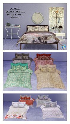 Art Vitalex's Stockholm Bedroom Recolors at Msteaqueen via Sims 4 Updates
