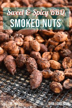 Sweet and Spicy BBQ Smoked Nuts Smoked Nuts Recipe, Smoked Meat Recipes, Nut Recipes, Pellet Grill Recipes, Smoker Recipes, Grilling Recipes, Barbecue Recipes, Outdoor Cooking Recipes, Spicy Nuts