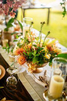Tropical floral centerpiece - Teresa Sena Design
