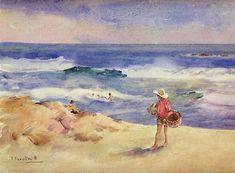 """Joaquin Sorolla y Bastida, """"Boy on the Sand,"""" n.d."""