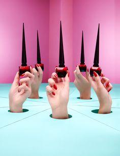 Louboutin's new nail polish, photographed for Tatler. Photography - Catherine Losing, Set Design - Anna Lomax.