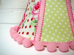 Floral Lamp Shade with Lecien Fabric Pink by ScarlettsCozyCottage, $16.00
