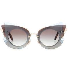 MIU MIU Cat-eye sunglasses. #miumiu #sunglasses