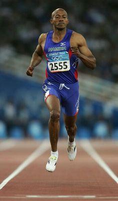 Frankie Fredericks  100m  9.86  Namibia Rio Olympics 2016 a34bc824ed981