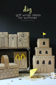 5 easy seaside gift wrap ideas for summer birthdays | Growing Spaces