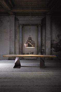 Iron pendant lamp / floor lamp EKFLAMO by ELITE TO BE