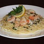 Recette Spaghetti aux crevettes et à l'ail