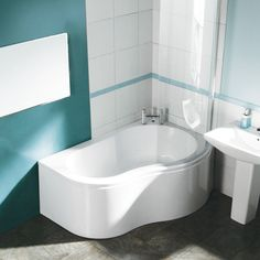 look at that tiny bath! (Milano 1500 shower bath, £279, Big Bathroom Shop)