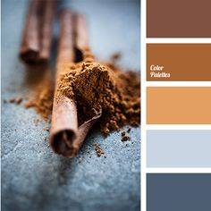 Contrast of this colour palette is achieved by a combination of red hues of brown and neutral gray with a touch of dark blue. These blotches of blue, in pa.