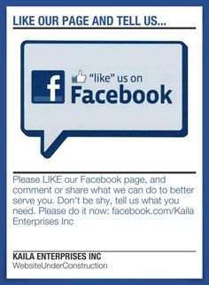 LIKE our page and tell us...