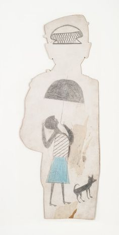 Bill Traylor, 'Untitled (woman with umbrella)', 1939-1942, Fleisher/Ollman | Artsy
