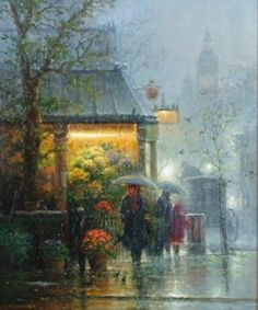 Gentle rain falling. Warm air. Soft Breezes. Spring Time! How I remember.