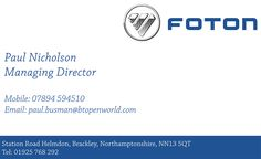 Foton Business Card