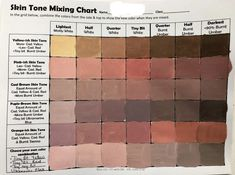 Oil Painting Tips, Painting Lessons, Art Lessons, Color Mixing Chart Acrylic, Mixing Paint Colors, Watercolor Skin Tones, Watercolor Mixing, Watercolour, Josef Albers