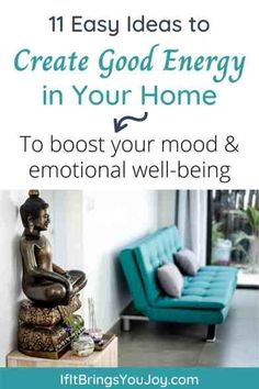 Improve your mood and emotional well-being by using these simple ideas and tips to bring good energy into your home. Surround yourself with positive energy and make your home a calm, beautiful living space. As you improve the energy and vibes in your home, you will create a space where you can be your best self. #positivevibes Chi Energy, Good Energy, Cool Diy Projects, Home Projects, Decorative Water Fountain, Creating Positive Energy, Best Self, Better Life, Garden Ideas