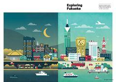 EXPLORING FUKUOKA | CreativeCity Fukuoka  ブローシャー【brochure】