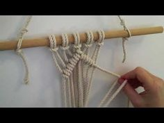 diagonal double half hitch macrame knot - YouTube