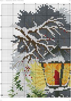 lanterna magica-3 Cross Stitch Christmas Ornaments, Xmas Cross Stitch, Cross Stitch Pillow, Cross Stitch Samplers, Christmas Cross, Counted Cross Stitch Patterns, Cross Stitch Charts, Cross Stitching, Cross Stitch Embroidery