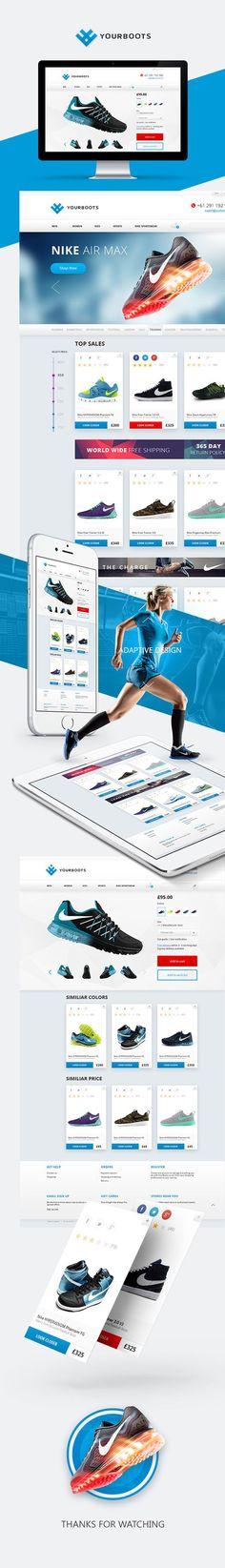 YourBoots - fancy and sporty footwear e-Shop on Behance: