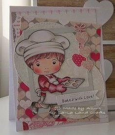 From our Design Team! Card by Alina Meijer Petrescu featuring Heart Cookies Luka and these Dies - Stitched Nested Circles (set of 7) Die, Hanging Hearts & Love Word (set of 3) Die, Stitched Elements (set of 7) Die :-) Shop for our products here - shop.lalalandcrafts.com   Coloring details and more Design Team inspiration here - http://lalalandcrafts.blogspot.ie/2015/02/inspiration-friday-valentine.html