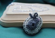 Quirky Cute Bunny Crochet Necklace by FuchsiaFoxStudio on Etsy