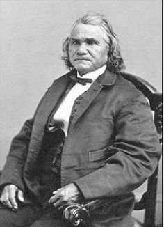 "Photo: Cherokee Chief Stand Watie. Credit: Wikimedia Commons. Read more on the GenealogyBank blog: ""Confederate Cherokees Starving as Civil War Ends."" https://blog.genealogybank.com/confederate-cherokees-starving-as-civil-war-ends.html"