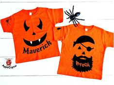 4a2dd88e Items similar to Halloween Pumpkin Face Shirt, Vampire Pumpkin, Pirate  Pumpkin, Cheap Kids Halloween Costume, Custom Pumpkin Shirt PERSONALIZED,  ...